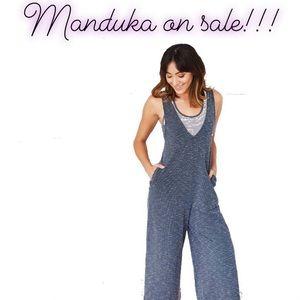 manduka Pants & Jumpsuits - Manduka Yoga Jumpsuit wide leg jumper indigo small